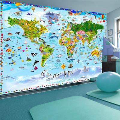 Fototapeta - Mapa świata...
