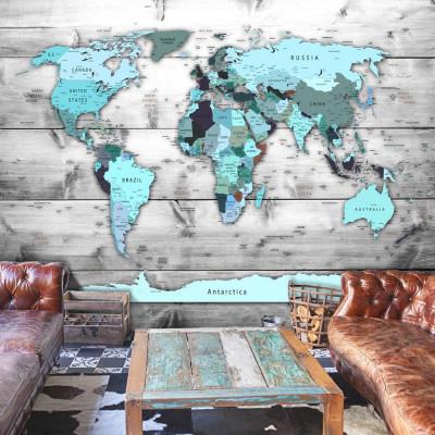 Fototapeta - Mapa świata:...