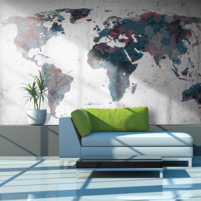 Fototapeta - World map on...