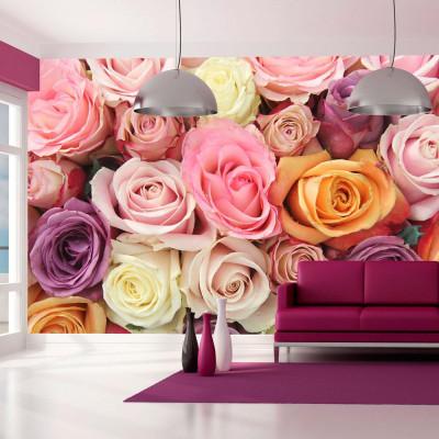 Fototapeta - Pastelowe róże