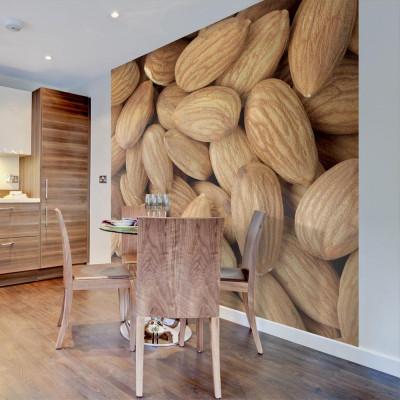 Fototapeta - Tasty almonds