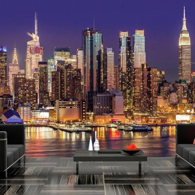 Fototapeta - NYC: Nocne miasto