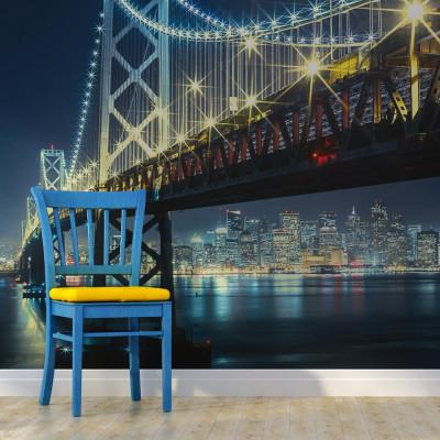 Fototapeta - Bay Bridge nocą