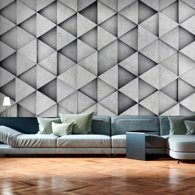 Fototapeta - Szare trójkąty